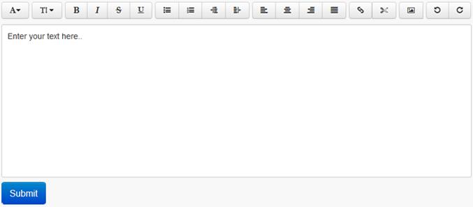 HTML5 Bootstrap Rich Text Editor WYSIWYG plugin a2zwebhelp
