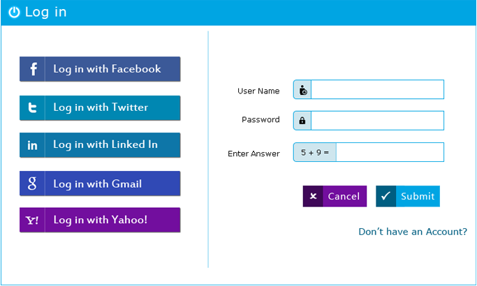php login form
