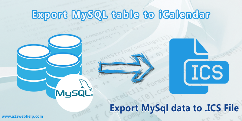 Export MySql data to ICS PHP