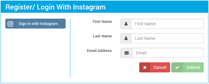 Login with Instagram
